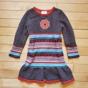 Hanna Andersson Girls Ruffle Sweater Dress 100 4